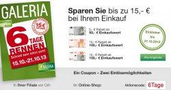 6 Tage Rennen bei Galeria Kaufhof – Angebote zzgl. Nutzung von weiteren Gutscheinen