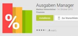 Android App – Ausgaben Manager heute gratis statt 2.50€ @Google Play