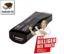 """Bei redcoon """"Billiger des Tages"""": TizzBird N1 Mini-PC HDMI-Stick mit Android 4.0 für nur 29€"""