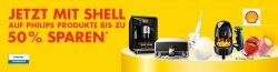 Bei Shell tanken und bis zu 50% auf Philips Produkte sparen