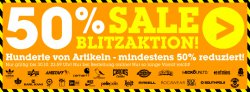 Blitzaktion: Sale mit mindestens 50% Rabatt  @MZEE