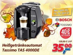 Bosch Tassimo TAS4000 für nur 35 € (Idealo 53,98 €) + 40 € Gutschein  @Real – nur am Dienstag den 15.10.