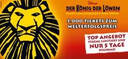 Der König der Löwen – Musical-Tickets ab nur 61,39€ pro Person in Hamburg