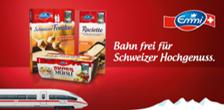 Deutsche Bahn: 10€ eCoupon beim Kauf einer Emmi Aktionspackung für eine Reise zwischen Deutschland und der Schweiz