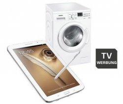 Die Saturn.de TV-Angebote: SAMSUNG Galaxy Note 8.0 für nur 309€ oder SIEMENS WM14Q3OL iQ 500 Waschmaschine für nur 399€