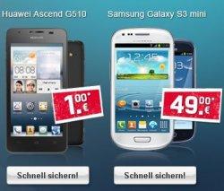 E-Plus Talkline Aktion effektiv 2,50€ im Monat – 500MB Internet Flat + 3000 SMS E-Plus Flat auch mit Smartfone (ab 1€) @logitel