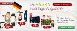 Feiertagsangebote bei Galeria Kaufhof + Gutschein bis 15 Euro