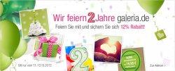 Galeria Kaufhof, Geburtstagsrabatt mit 12 % vom 11.-13.10.13, Versandkostenfrei ab 19,95 €uro