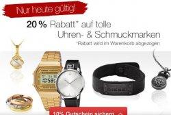 Galeria Kaufhof, Sonntagsangebot, 20% auf  Uhren & Schmuck + Aktionscode