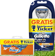 Gillette Fusion ProGlide Rasierer + 1 Sportevent Ticket gratis für 5,95€ statt 9,99€ @amazon