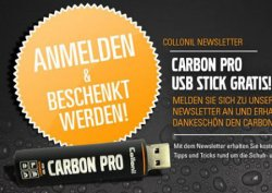 Gratis Carbon Pro USB Stick von Collonil