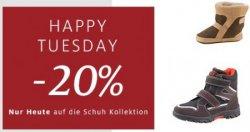 Happy Tuesday bei C&A: Nur Heute 20% Rabatt auf Schuhe
