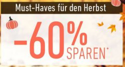 Herbstaktion: 60% Rabatt bei Dress For Less