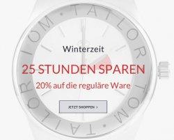 Heute 25 Stunden sparen mit 20% Rabatt @TomTailor