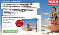 hochwertige-Fotoleinwand in 30x20cm Gratis statt  29,90 €   Versand 7,90 € @Picanova