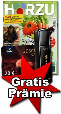 Hörzu testen und sparen: 3 Ausgaben für 7,- Euro plus 32 GB USB 2.0 Flash Drive im lesershop