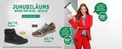 Juhubiläums Rabatt-Aktion auf das Schuh-Sortiment bei  Deichmann