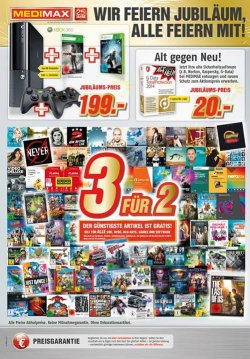 [Lokal] 3für2 Aktion in den Medi Max Filialen (CD, DVD, Blu-ray, Games, Software)