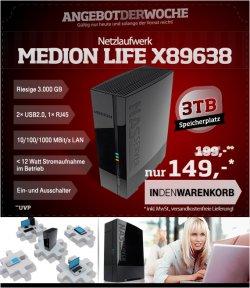 Medion NAS LIFE X89638 3TB für 149,00€ (Idealo 169,99€) @004.de