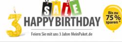 MeinPaket wird 3 Jahre alt –> 56 Geburtstagsangebote bis zu 75% reduziert + 8% Gutschein