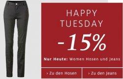Nur heute 15% Rabatt auf Damenhosen bei C&A