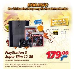[Lokal] real-Deal vom Samstag, Play Station 3 Super Slim 12 GB für 179 €uro statt 238,98 €uro