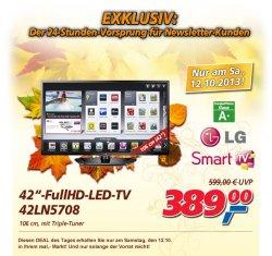 [Lokal] real-Deal vom Samstag: LG 42LN5708 Full HD LED-TV mit 107 cm und Tripletuner für 389 €uro