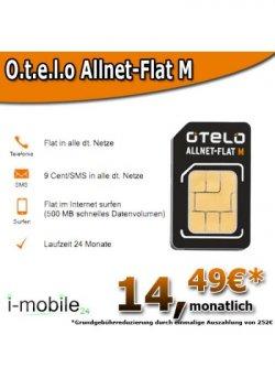 Otelo Allnet-Flat M für nur 14,49€ durch Auszahlung @i-mobile24.de