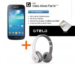Otelo Allnet-Flat mit 500MB Internet Flat + Galaxy S4 Mini + Beats by Dr. Dre Solo Kopfhörer 24,99€ mtl.