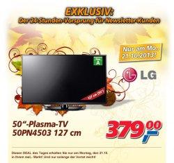 Real-Deal, Montag, LG-Plasmafernseher 50 PN 4503 (127 cm)  für 379 €uro