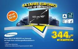 Samsung UE40F5370 40″ Full HD-LED Smart-TV für 344 Euro (Idealo 488,99 Euro) bei Euronics – Update: Online ausverkauft!