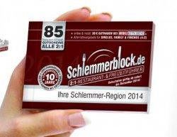 Schlemmerblock 2014 für nur 10,05€ + MwSt. (MBW: 5 Stück) – funktioniert auch bei Privatpersonen