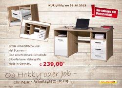 Schreibtisch Reno für 239,00 Euro (statt 294,99 Euro Idealo) Eröffnungsangebot im Netto Online Shop