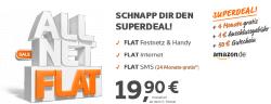 Superdeal auf Simyo.de: Simyo Allnet Flat + SMS Flat + Internet + 50€ Amazon Gutschein