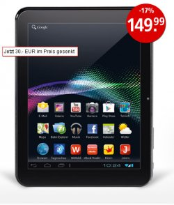 Tablet PC 4 ( 2 Kameras & Mikro) mit Android, 149,99 €uro (-17%) bei Weltbild.de