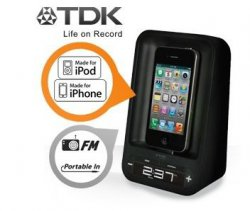 TDK TAC 4221 Lautsprecherdock mit Wecker für iPhone / iPod für nur 12,95€ + 5,95€ Versand @iBOOD