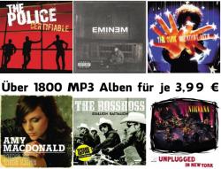 Über 1800 MP3 Alben für je 3,99 Euro bei Amazon