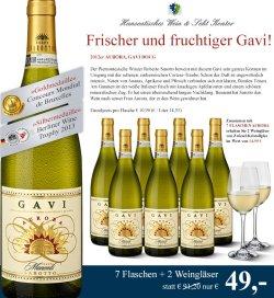 Weißweinpaket (7 Flaschen) + 2 Kristalglasweingläser GRATIS für 49 €uro statt 91,20 €uro, versandkostenfrei