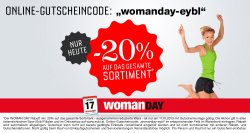 Womanday mit 20% auf ALLES @sport Eybl.at