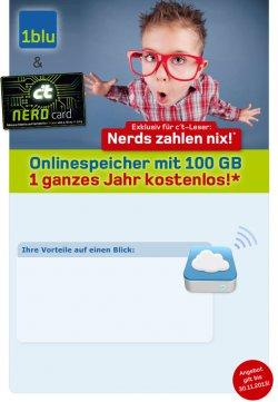 100 GB Cloud-Speicher für 1 Jahr gratis @Ct + 1blu