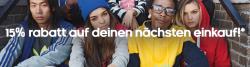 15% Rabatt Gutschein durch Newsletteranmeldung @Adidas Onlineshop