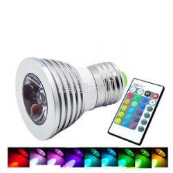 16 Farbwechsel E27 IR Fernbedienung 3W RGB LED Lampe hier nur 1,48€ ! inc. Versand