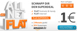 2 Monate Simyo Allnet Flat + 25€ Amazon Gutschein für nur 1€ (nur 500 Stück verfügbar) @sim-aktion.de