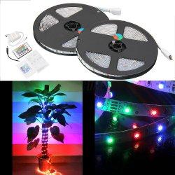 2x5m 10m 600 3528 SMD LED Lichterkette Lichtleiste Strip RGB mit Fernbedienung für 9,79€+Versand 2,49€=12,28€@ebay.de