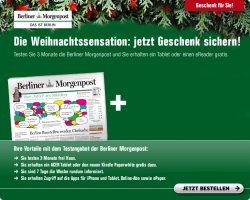 3 Monate Berliner Morgenpost + Kindle Paperwhite 2 oder Acer Android Tablet PC statt 129€ nur 86,70€@lesershop24.de