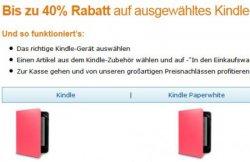 30-50% Rabatt  auf Kindle-Zubehör @amazon.de
