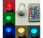 3W E27 RGB LED 16-Farbwechsel Strahler Lampe mit Fernbedienung für 5,90€ inkl. VSK bei Ebay
