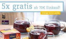 4 teiliges Punschtassenset von WMF & 10 Beutel Glühwein GRATIS ab einem Bestellwert von 70 €uro @ baur.de