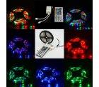 5M LED 3528 RGB Strip Streifen mit 44-Tasten Fernbedienung und Trafo für 7,70€ @ Ebay.de