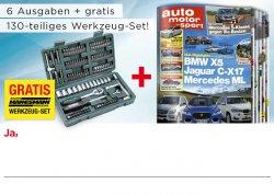6x Ausgaben von auto motorsport+ gratis 130 teiliges Werkzeug-Set von Mannesmann für 16,80€gratis Versand@mp-success.com